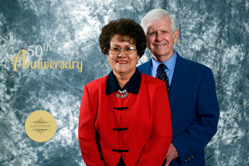 Fred and Patty Landrum of Jackson Kentucky 50th Wedding Anniversary.  Portraits by Bart Massey Photography.