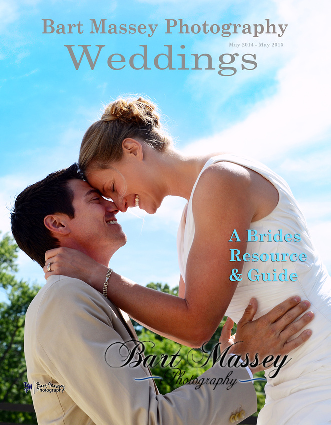 Wedding magazine cover wedding in Asheville NC Bride and groom