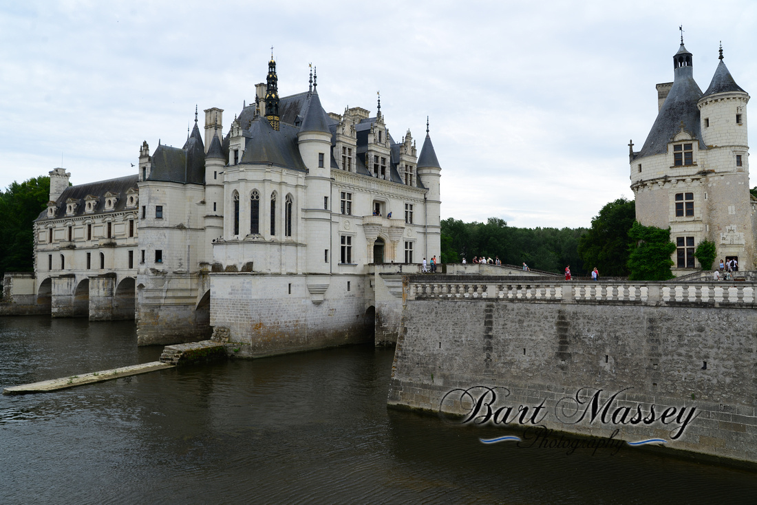 Tours France in the Loire River Valley.  The Castle District