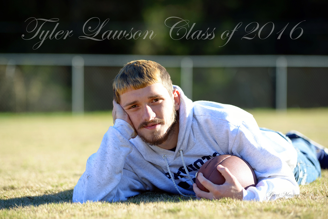 Tyler Lawson and Kasey Hall Knott County High School football senior Class of 2016