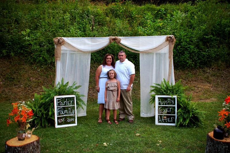 The JJ and Ashley Farler wedding at Right Fork of Maces Creek, Viper Kentucky.