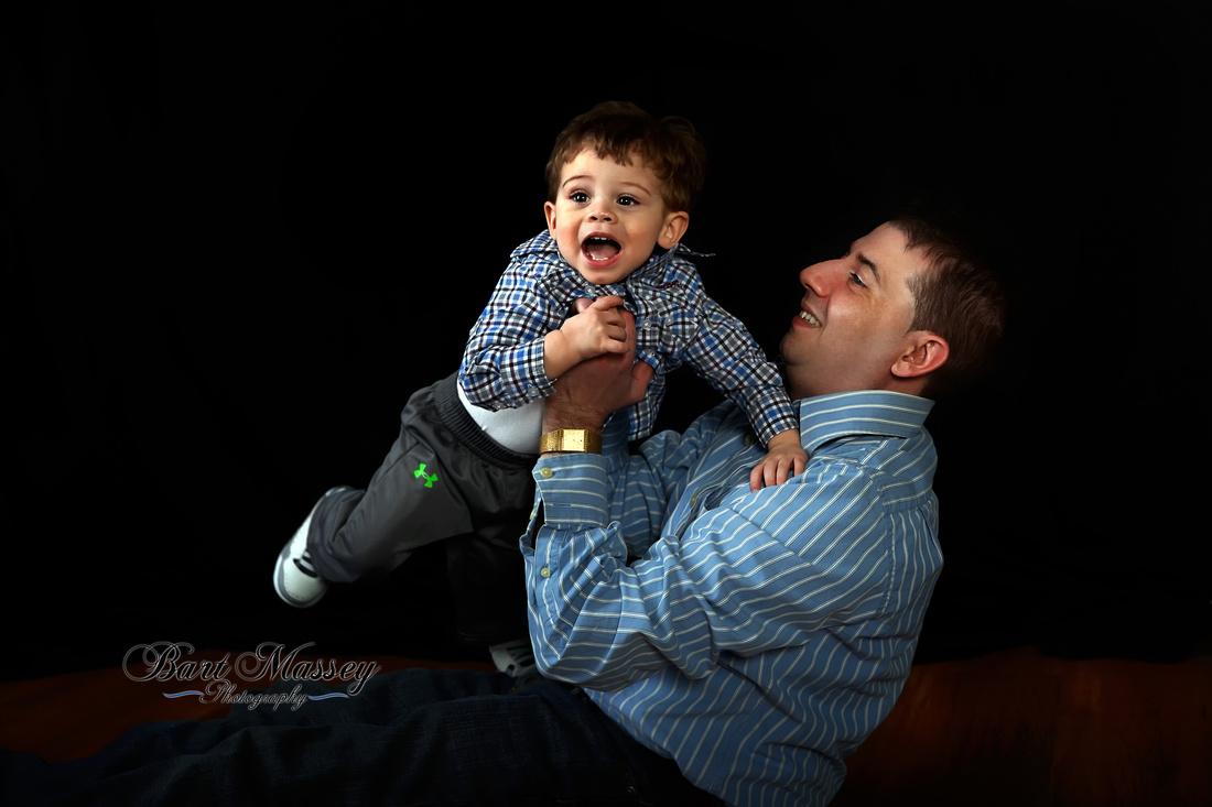 Daddy and Son, John and John Jr. at Bart Massey Photography Studio in Hazard Kentucky