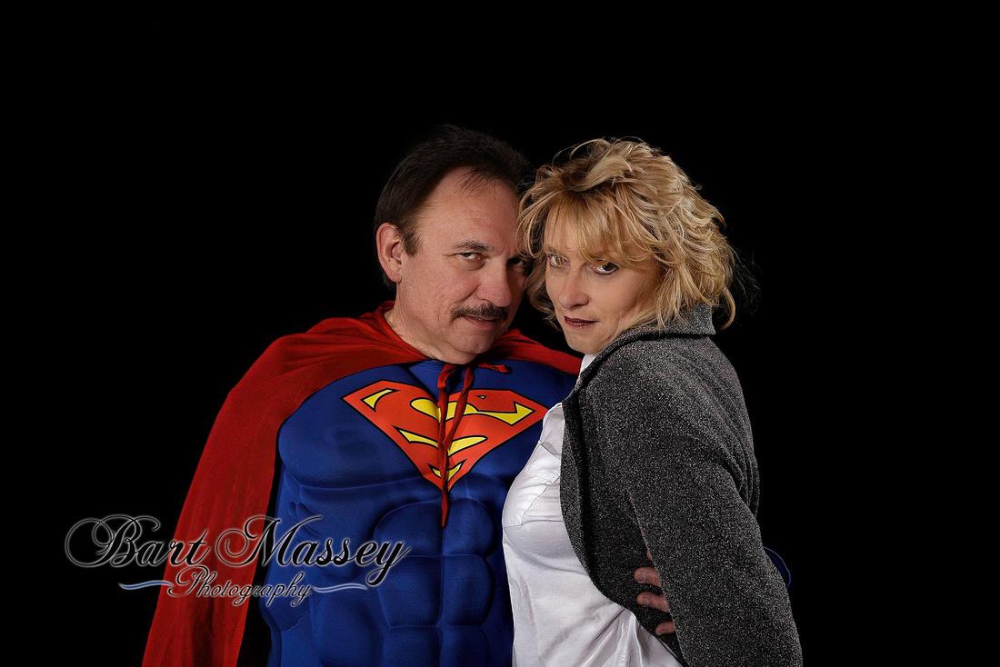 Bill and Sherry Superman and Lois Lane, Bart Massey Studio photographs