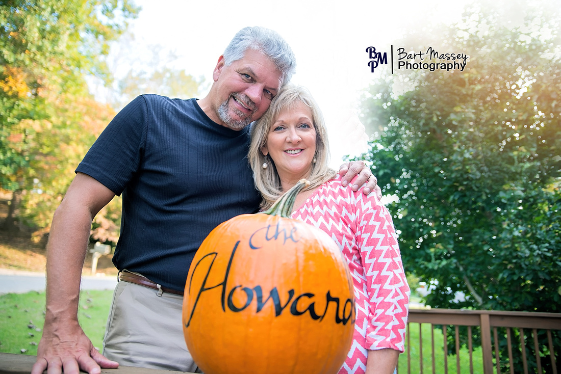 Cluster and Sandy Howard from Jackson Kentucky in Breathitt County in the fall for family photos.