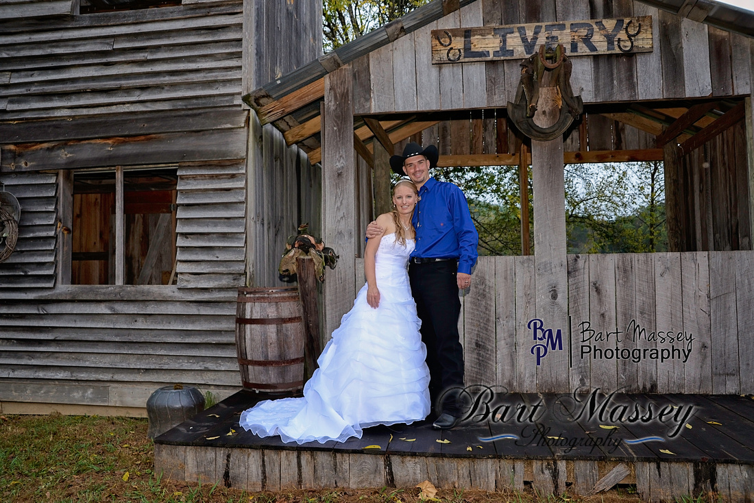 A photo of the newly wed horse lovers from Hamilton Ohio.