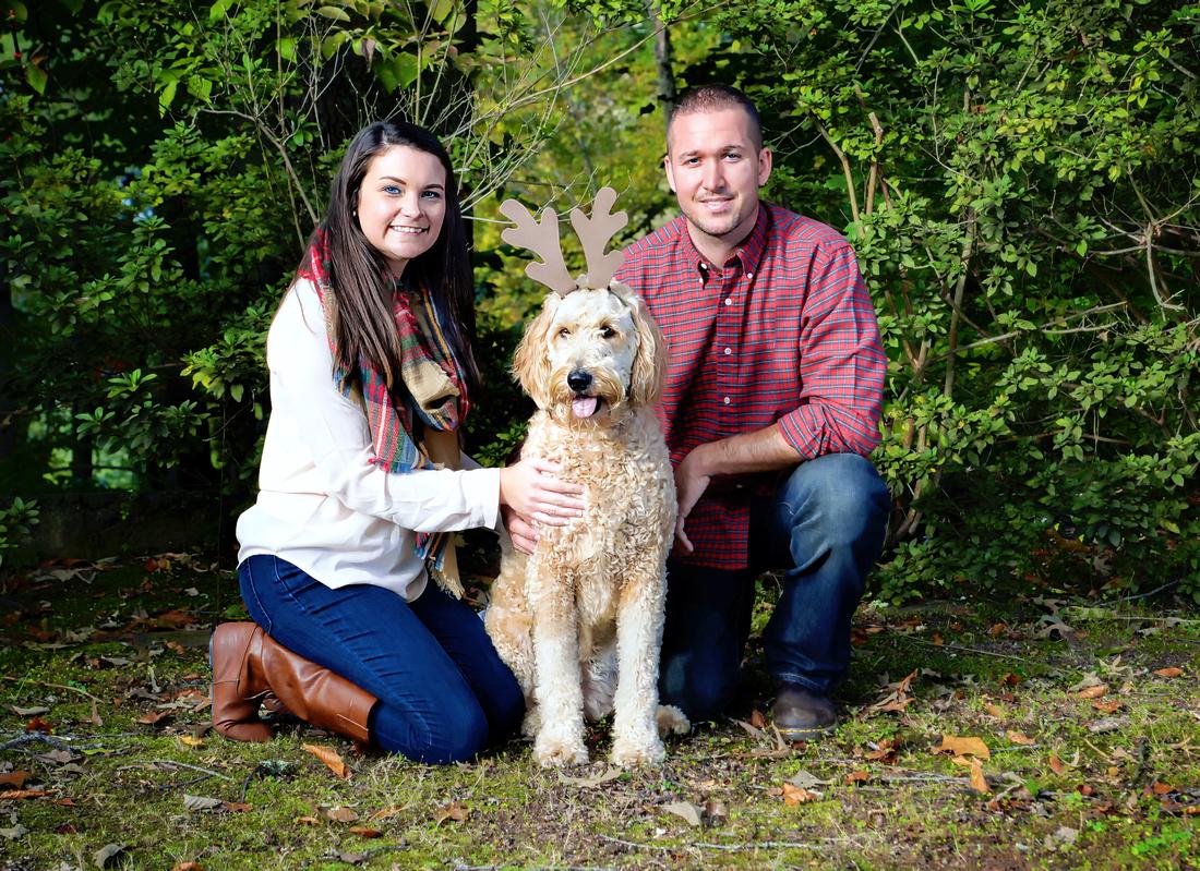 Tiffany Daniel Ellie the dog fall photo session Bobby Davis Park Hazard Kentucky Husband wife dog