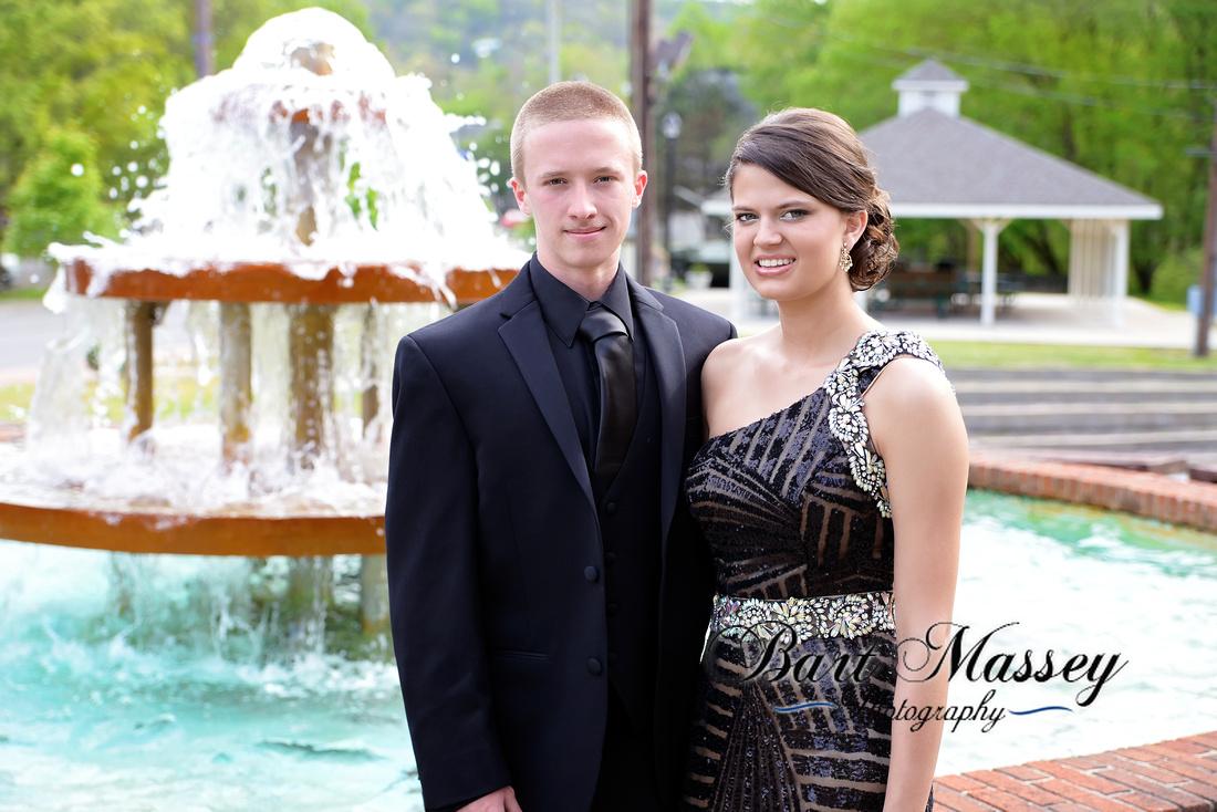 Sierra Howard, Kolby Hillman Hazard High School Prom 2015 City Hall, Rail Road, Bobby Davis Park.  Bart Massey Photography